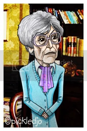 Blanche Hunt Caricature Corrie Coronation Street pickledjo