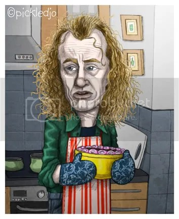 Eddie Windass, Steve Huison, Corrie Caricature
