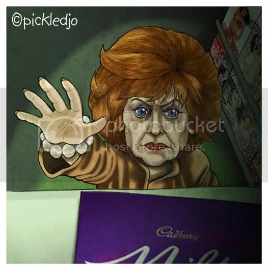 Rita Sullivan caricature tram crash coronation street