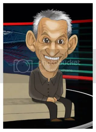 MOTD match of the day, Gary Lineker caricature