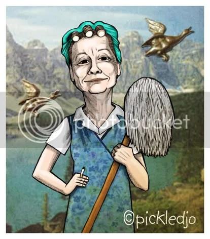 Hilda Ogden Corrie Caricature