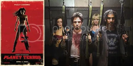 Planet Terror poster and production photo