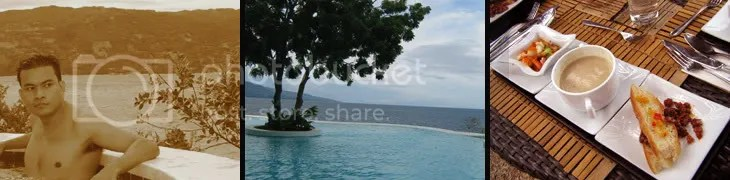 infinity pool and great island food