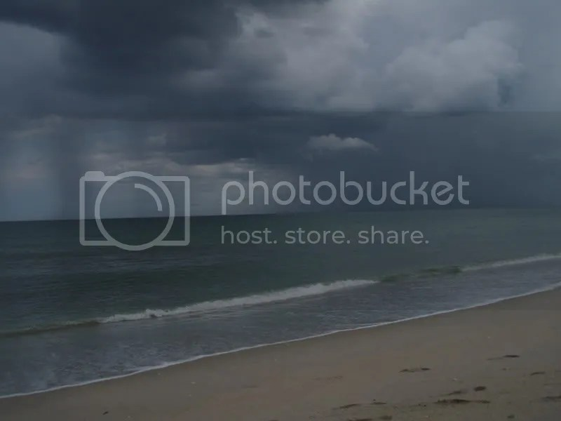 Incoming storms off of Satellite Beach