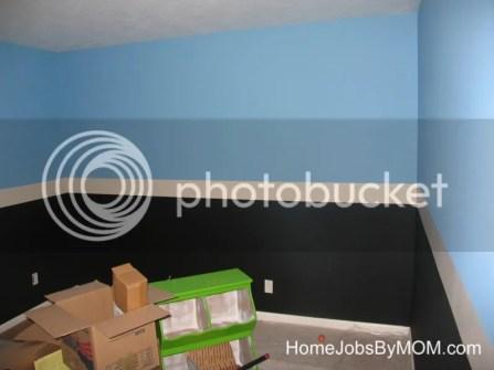 black and blue mario room