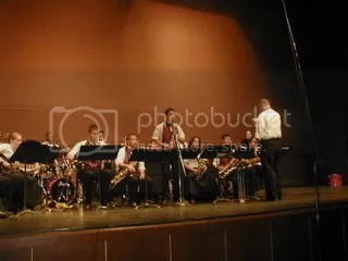 BMHS' jazz band w/Matthew and his solo