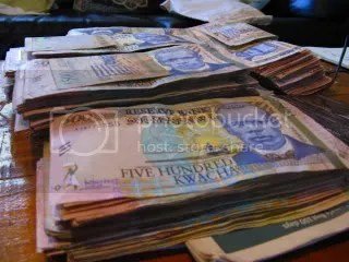 This is what 450,000 kwacha looks like