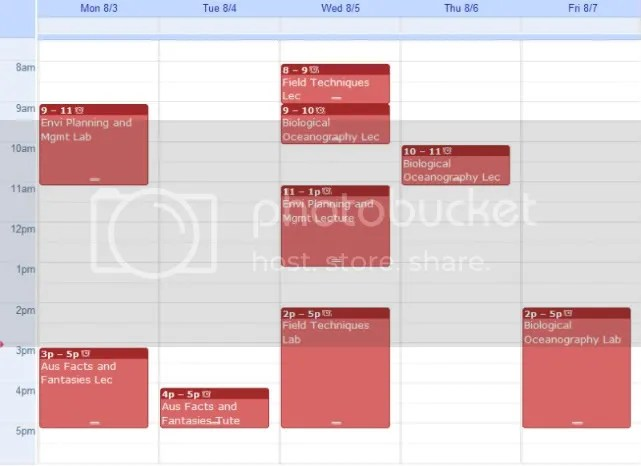 uwa schedule