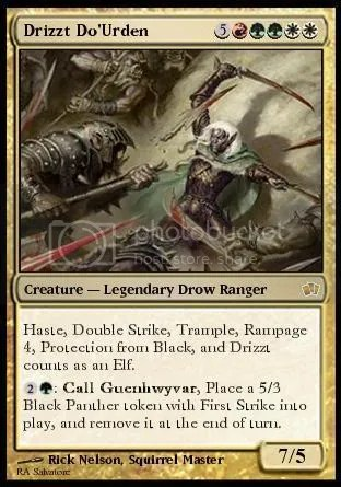 A not-so nice Drizzt card
