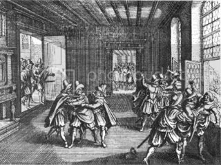 Contemporary Woodcut of the 1618 Defenestration