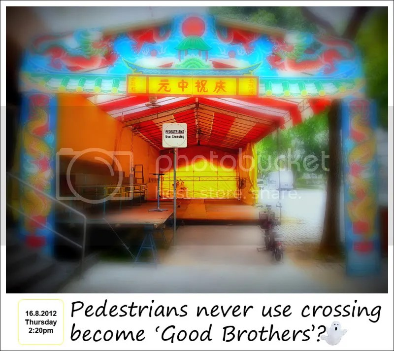 7th Month, Seventh Month, Ghost Month, Pedestrians Crossing Sign, Singapore