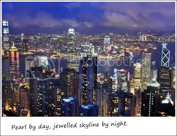 Night view of HK skyline
