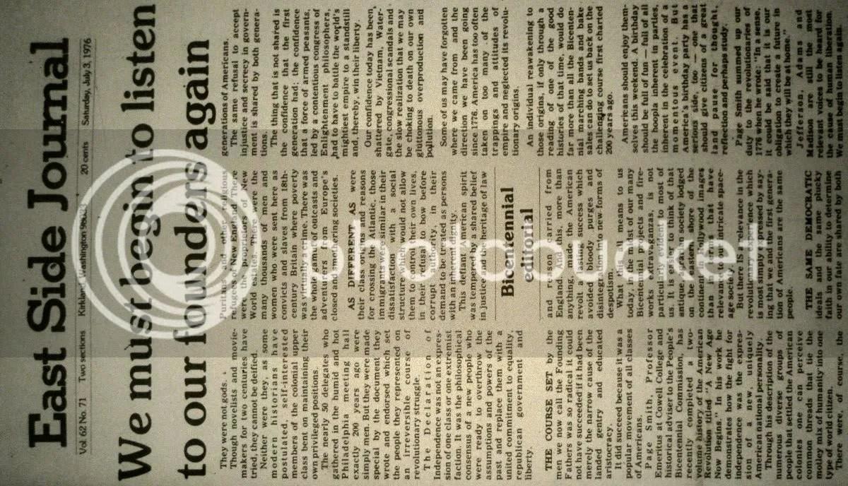 East Side Journal, July 3 1976