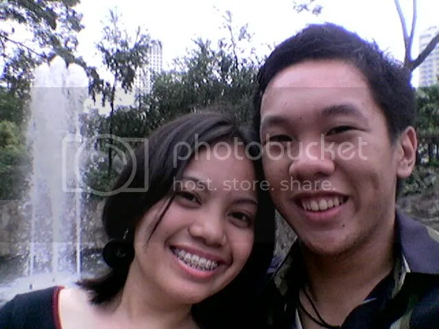 Maan and Me at the Greenbelt fountain
