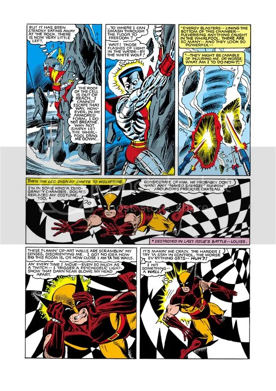 Arcade terrorizes Colossus and Wolverine