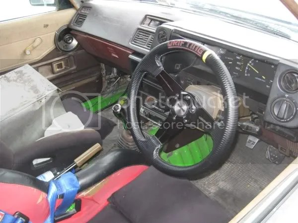 White AE70s interior