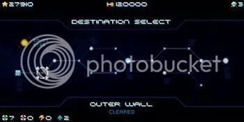 Hydorah - map screen