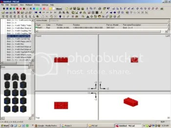 MLCad - used for putting together virtual Lego models
