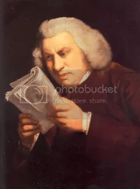Samuel Johnson reacts unfavouably upon discovering that hed misspelled honour and colour.