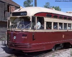PCC Streecar - in operation from 1930s to the 1970s. The original Red Rocket.