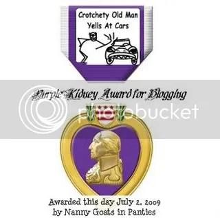The Purple Kidney Award for Blogging