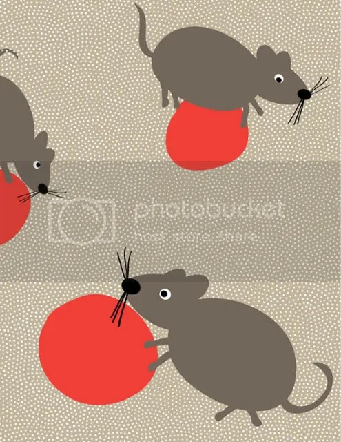 mice playing ball