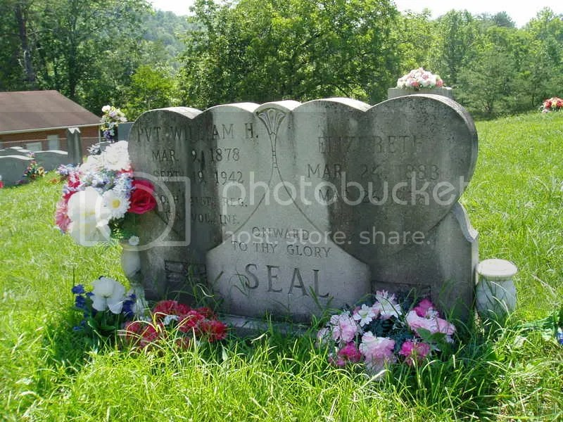 William & Elizabeth Seal grave marker