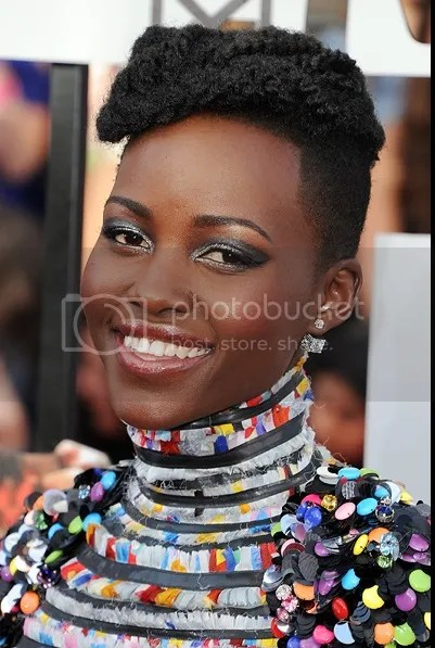 Lupita Nyong'o MTV Movie Awards 2014, Lupita Nyong'o makeup, Lupita Nyong'o fashion