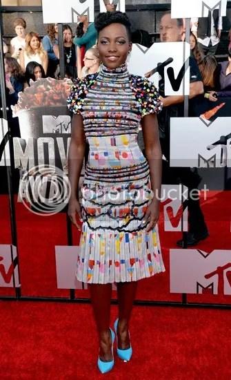 Lupita Nyong'o MTV Movie Awards 2014, Lupita Nyong'o dress, Lupita Nyong'o fashion