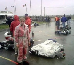 Full wets for kart and driver