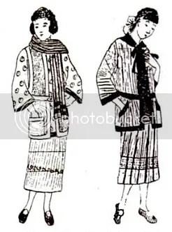 Fashion designs for handknit woollen garments, 1924