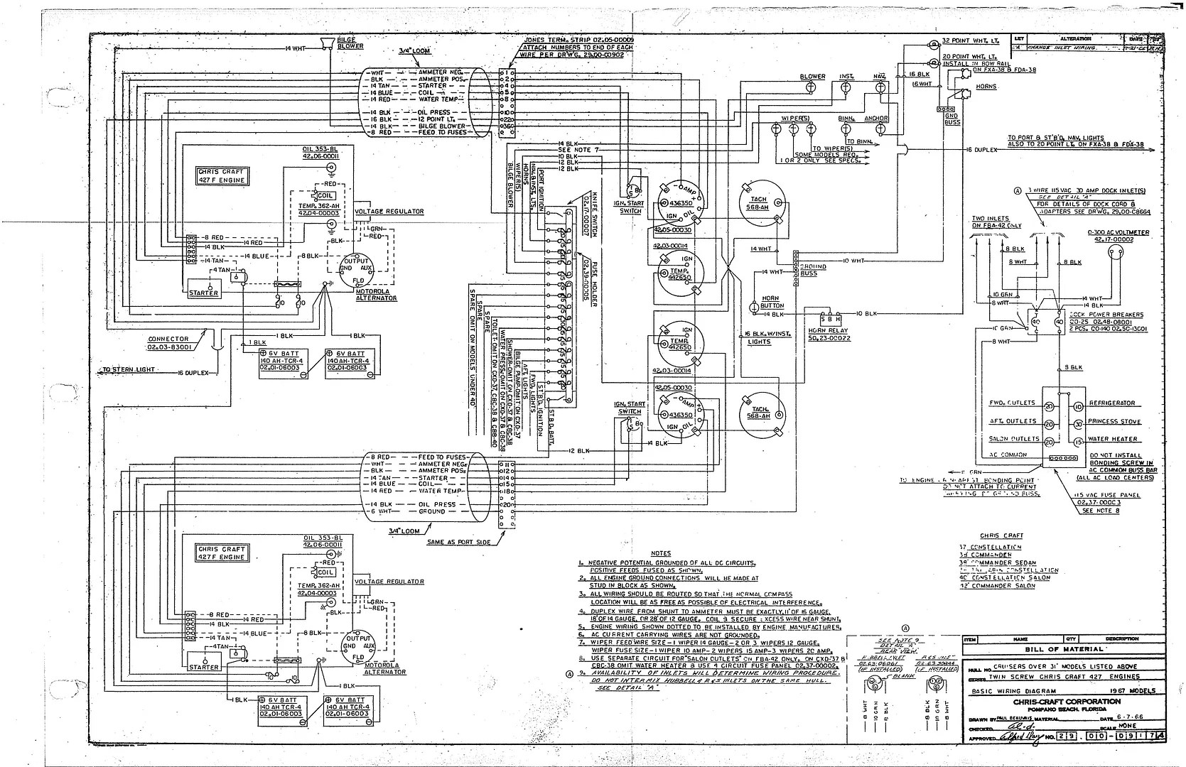 Chris Craft Commander Forum Wiring Diagram 31 And Larger 427 Motors