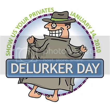 Delurking day button