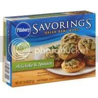 Pillsbury Savorings Artichoke and Spinach Bread Bowl Bites