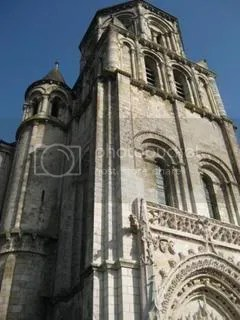 Poitiers has a bunch of old churches. This one one of the 3 that we stopped at. There were more that we didnt