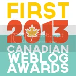 2013 Canadian Weblog Awards winner
