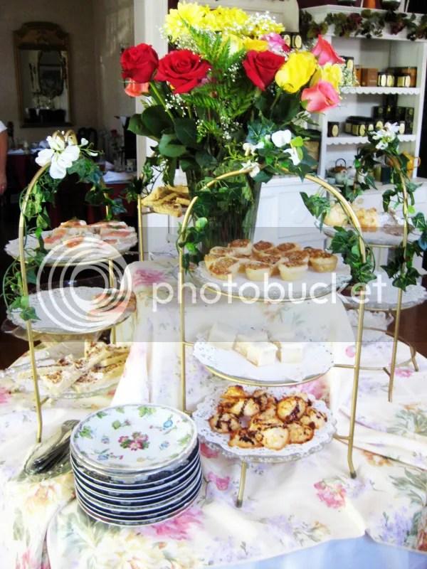 Tea Trays with food
