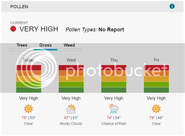 6/6/2017 Pollen Report