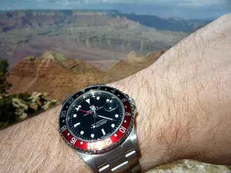 Rolex GMT-Master II ref.16710 in the Grand Canyon