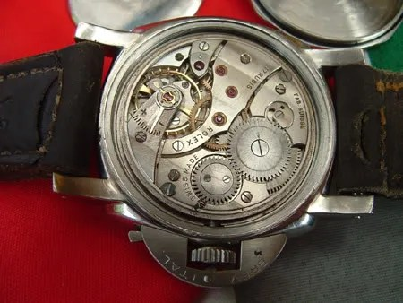 Panerai with Rolex Cortebert movement