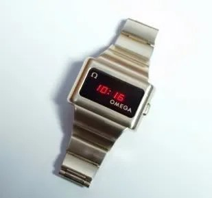 Omega LED wrist watch, picture taken from the LEDWatch.net website