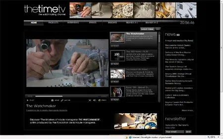 The Time TV watchmaking video