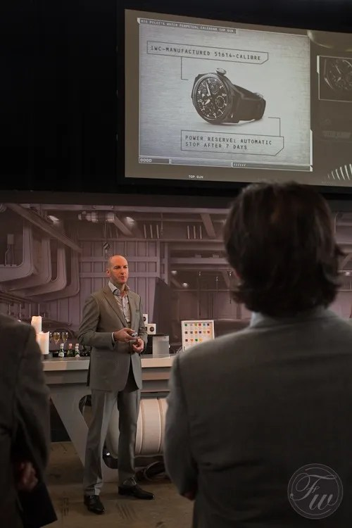 IWC's Head of Design performing IWC's mission briefing