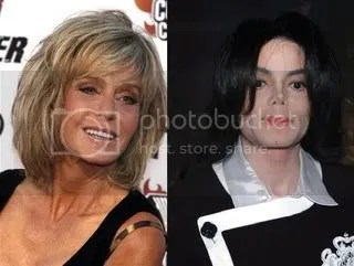 Farrah Fawcett and Michael Jackson