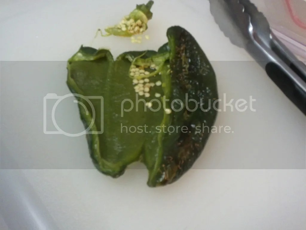 Removing Seeds from a Poblano
