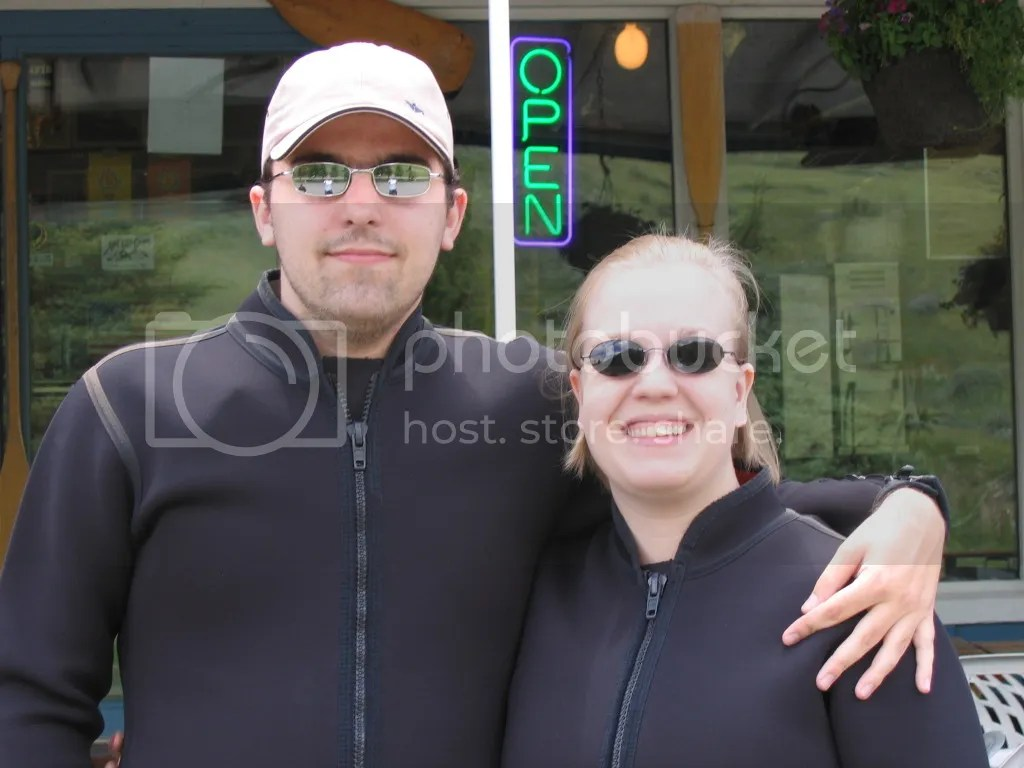 In Wetsuits for Rafting