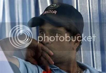 Sachin in pensive mood
