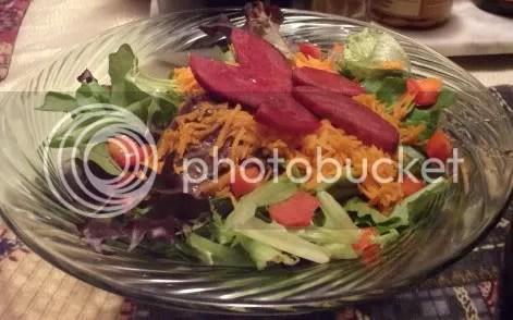 beet & greens salad