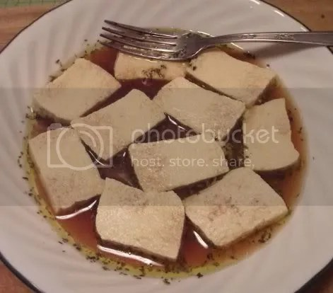 Italian marinated tofu