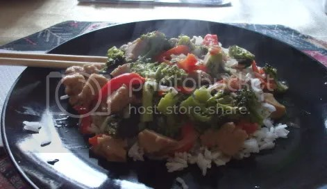 seitan broccoli plate